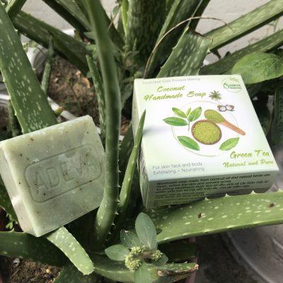 xà bông handmade - xà bông trà xanh 4